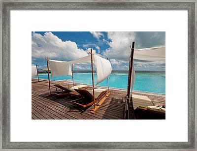 Windy Day At Maldives Framed Print by Jenny Rainbow