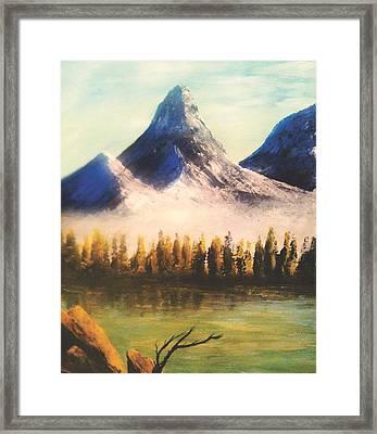 Windy Little Tree Framed Print by Jessie J De La Portillo