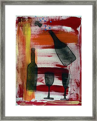 Wine - 1717 Framed Print by Richard Sean Manning