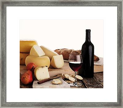 Wine And Cheese Framed Print by Cole Black