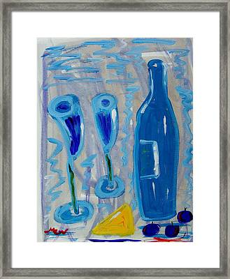 Wine And Cheese Framed Print by Mary Carol Williams