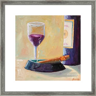 Wine And Cigar Framed Print by Todd Bandy