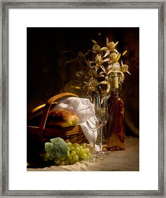 Wine And Romance Framed Print by Tom Mc Nemar