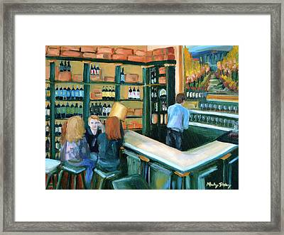 Wine Bar Rendezvous Framed Print by Mandy Stohry
