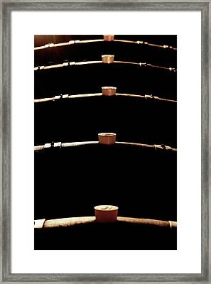 Wine Barrels Framed Print by Mauro Fermariello