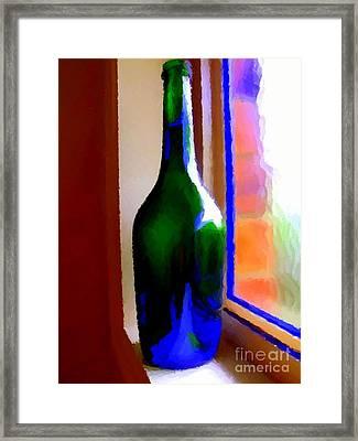 Wine Bottle Framed Print by Chris Butler