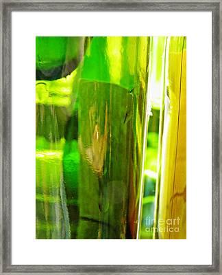 Wine Bottles 21 Framed Print by Sarah Loft