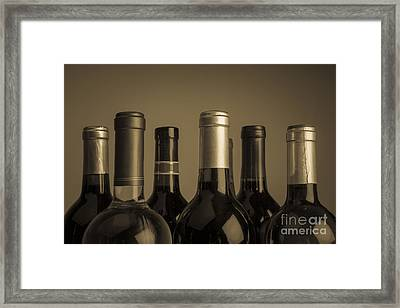 Wine Bottles Framed Print by Diane Diederich