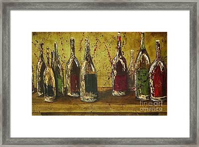 Wine Bottles Framed Print by Jodi Monahan