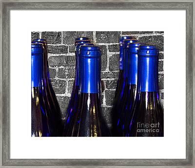 Wine Bottles Framed Print by Tom Gari Gallery-Three-Photography