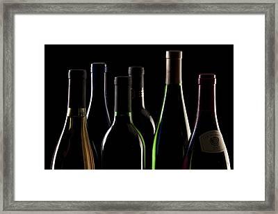 Wine Bottles Framed Print by Tom Mc Nemar