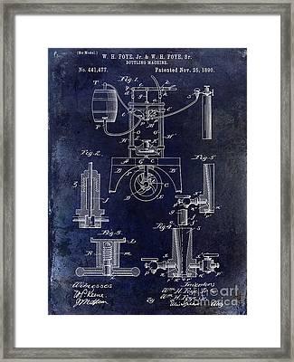 1890 Wine Bottling Machine  Framed Print by Jon Neidert