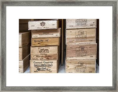 Wine Boxes Framed Print by Georgia Fowler