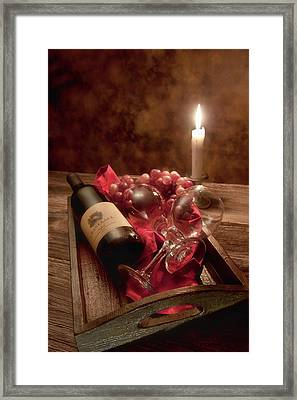 Wine By Candle Light I Framed Print by Tom Mc Nemar