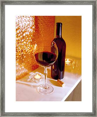 Wine By Candlelight   Framed Print by Jon Neidert