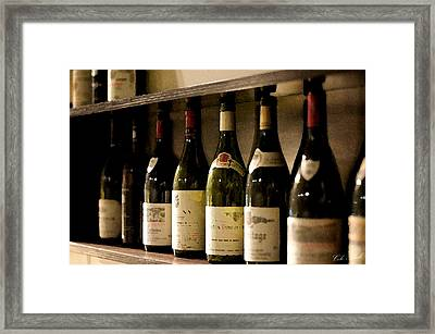 Wine Cellar Framed Print by Cole Black