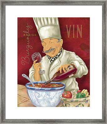 Wine Chef II Framed Print by Shari Warren