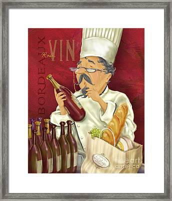 Wine Chef Iv Framed Print by Shari Warren