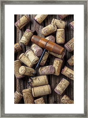 Wine Corks Celebration Framed Print by Garry Gay
