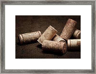 Wine Corks Still Life IIi Framed Print by Tom Mc Nemar