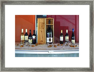 Wine Display Framed Print by Sally Weigand
