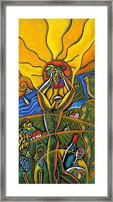 Wine Festival Framed Print by Leon Zernitsky