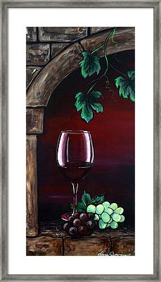 Red Wine Sunset Framed Print by Dani Abbott