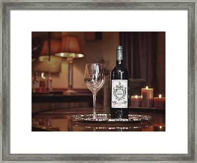 Wine For One Framed Print by Dennis James