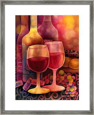 Wine For Two Framed Print by Hailey E Herrera