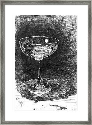 Wine Glass 1860 Framed Print by Padre Art