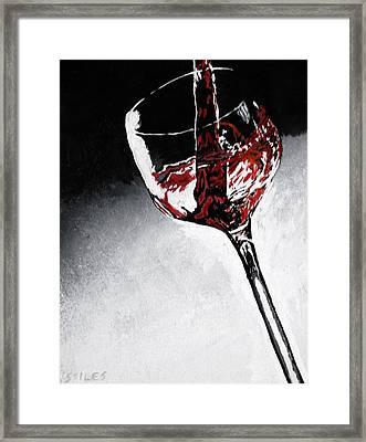 Wine Glass Framed Print by Mark Stiles