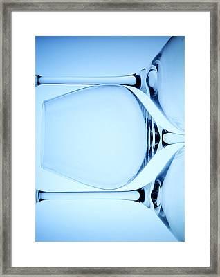 Wine Glasses 4 Framed Print by Rebecca Cozart