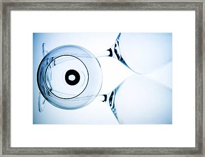 Wine Glasses 7 Framed Print by Rebecca Cozart