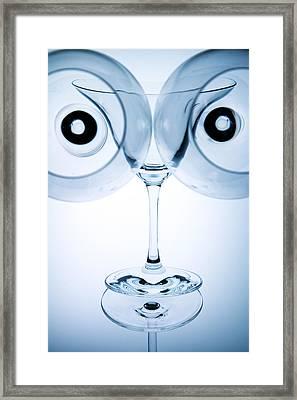 Wine Glasses 9 Framed Print by Rebecca Cozart