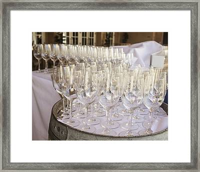 Wine Glasses Framed Print by Dee  Savage