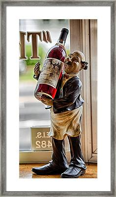 Wine Holder 1 Framed Print by John Hoey