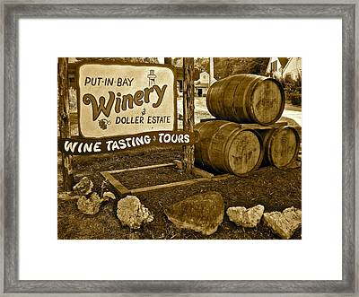 Wine Is Fine Framed Print by Frozen in Time Fine Art Photography