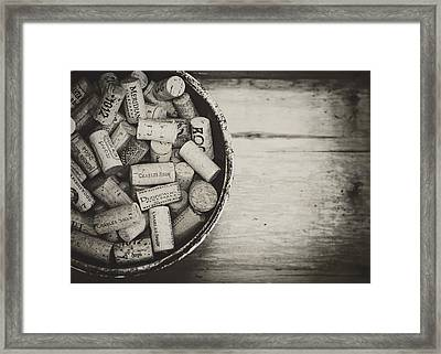 Wine Lovers Collection Framed Print by Heather Applegate