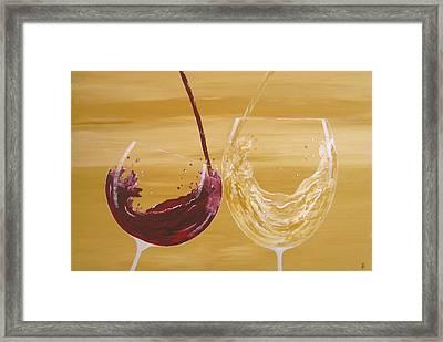 Wine Lovers. Sold Framed Print by Owen Jones