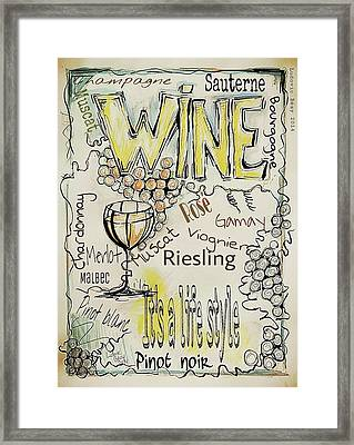 Wine Framed Print by Ludovic  Bezy