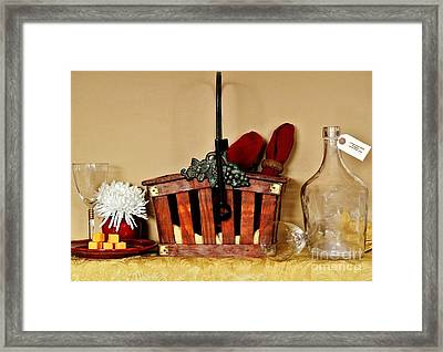 Wine Party Is Over Framed Print by Marsha Heiken