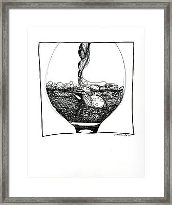 Wine Pour Framed Print by Andrea Cook