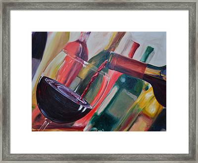 Wine Pour IIi Framed Print by Donna Tuten