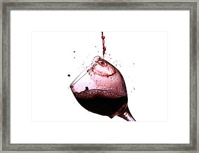 Wine Pour Framed Print by Michael Ledray