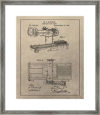 Wine Press Patent Framed Print by Dan Sproul