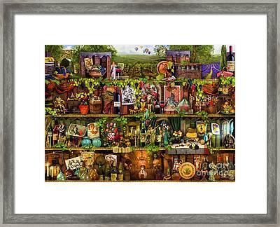 Wine Shelf Framed Print by Aimee Stewart