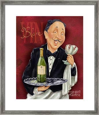 Wine Sommelier Framed Print by Shari Warren
