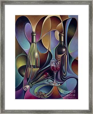 Wine Spirits Framed Print by Ricardo Chavez-Mendez