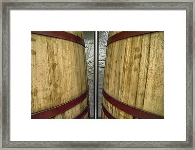 Wine Tanks Framed Print by Georgia Fowler