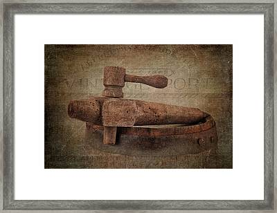 Wine Tap Framed Print by Tom Mc Nemar